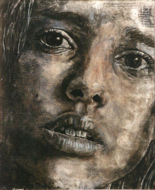 """By Viktor van Niekerk; Charcoal, 1998, Drawing """"it is pop [but is it] art [?] 2 (1998)"""""""