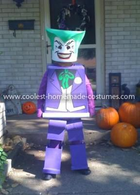 Coolest Lego Joker Costume: Our seven year old son loves Lego and wanted to be the Lego Joker this year for Halloween. At first my wife and I thought this would be an impossible