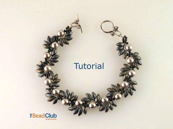 Right Angle Weave - Beaded Bracelet Pattern - Beading Tutorials and Patterns - Magatama Beads - Beadweaving Tutorial - Spiky Spiral Bracelet