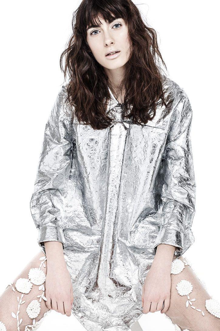 Photographer : Lorenzo Corsiani fashion Stylist : Manuela Mezzetti Make Up & Hair Style Alessio Giovannelli Model: Ilaria Bici  silver shirt : Yojiro Kake Calze : Arianna Fiorillo