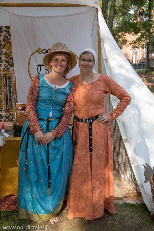Two maidens at Kouvo la Arctopolis Faire in Kouvola, Finland summer 2014