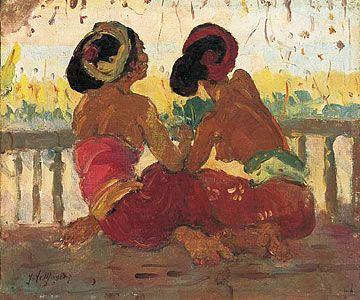 Contemplation - Adrien-Jean Le Mayeur de Merprès ( 1880-1958)