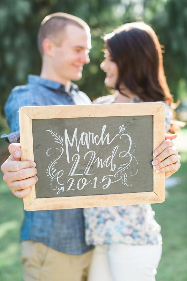 Save the Date Chalkboard Sign | Rachel Solomon Photography on @fabyoubliss via @aislesociety