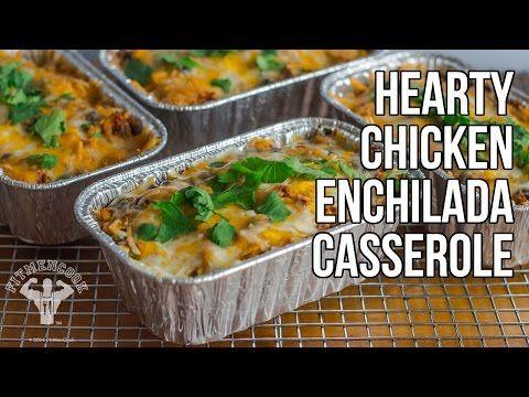 Healthy & Hearty Chicken Enchilada Casserole / Cazuela de Enchilada de Pollo - YouTube