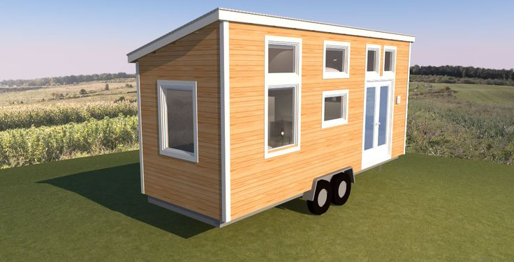 The Leggett Is A Long Tiny House On Wheels With A Shed Roof. It Has A  Bathroom Sized To Fit A Square Shower Stall, Composting Or Standard Toilet,  ...