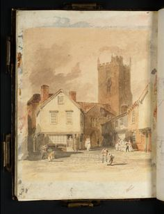 'Newport, Isle of Wight: The Church and Market Place' c.1800