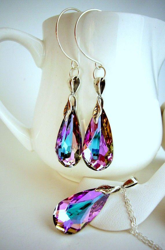 10 Vitrail Light Swarovski Jewelry Pink by EstyloJewelry, $50.40  #EstyloContest