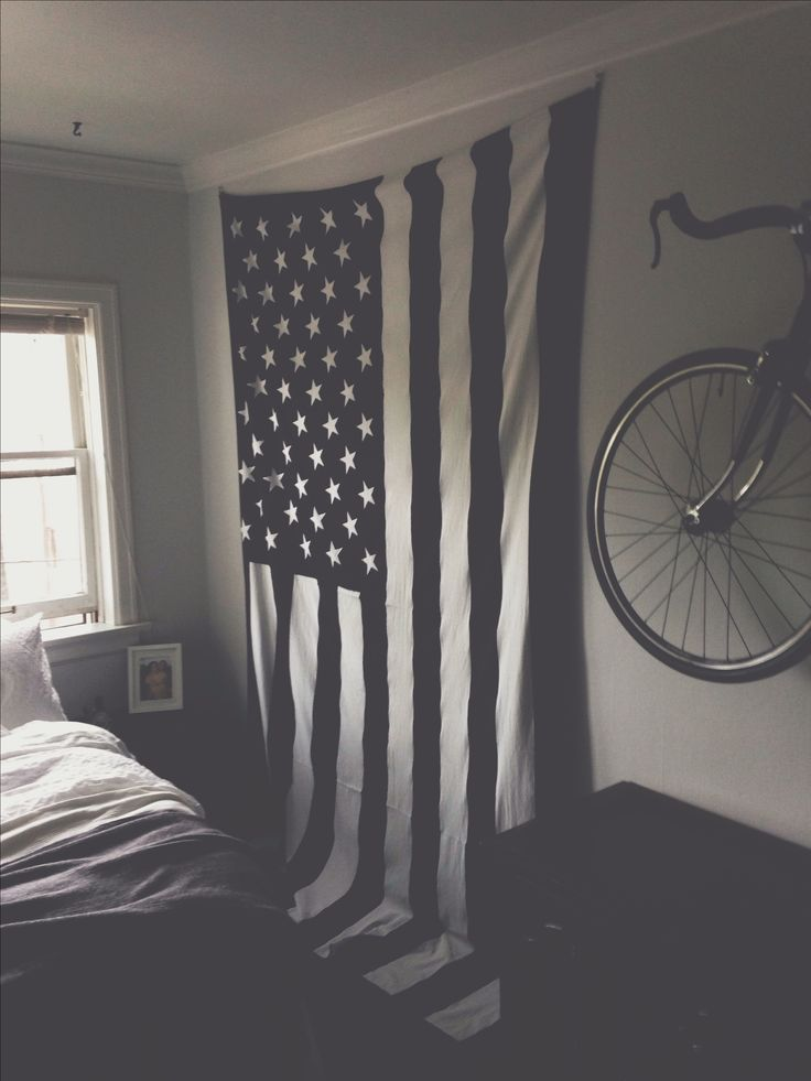 Black and white flag tapestry: Urban Outfitters $39.00