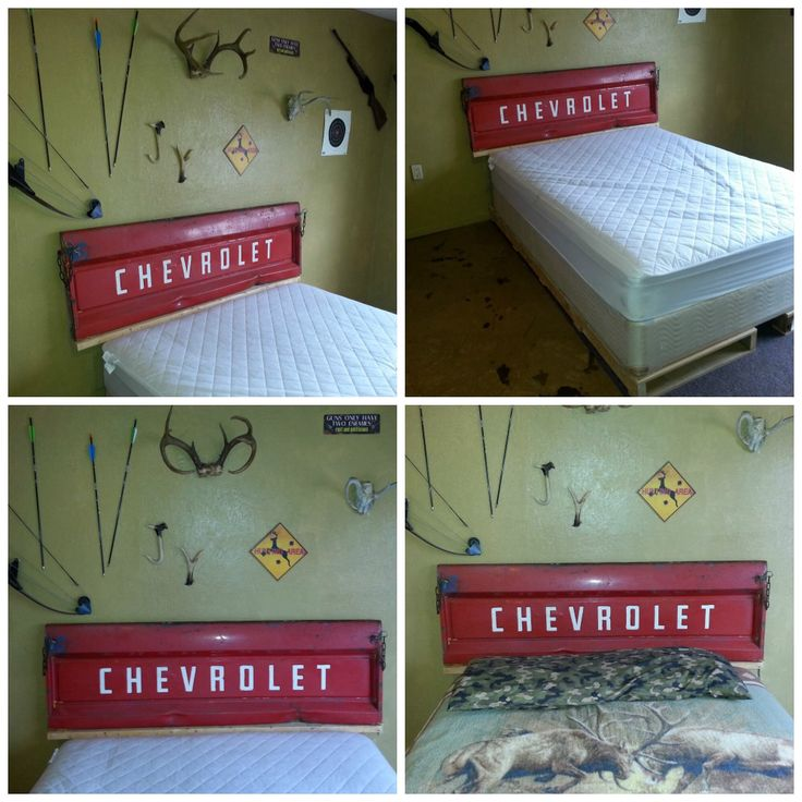 Tailgate headboard and pallet bed frame