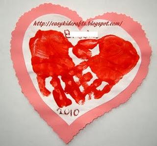 valentine day card print