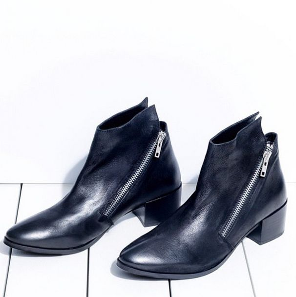 Our single zip Leather Ankle Boot ANGELA