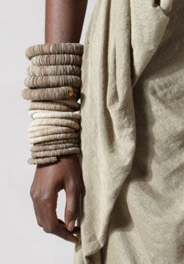 Bracelets | Donna Karan's Urban Zen collection.