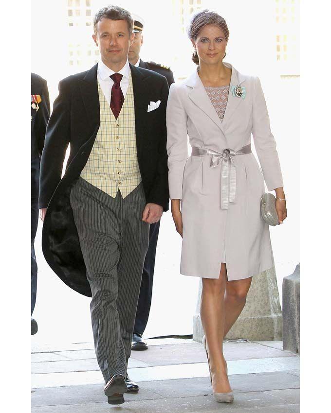 CP Frederik of Denmark with Princess Madeleine of Sweden at Princess Estelle's christening