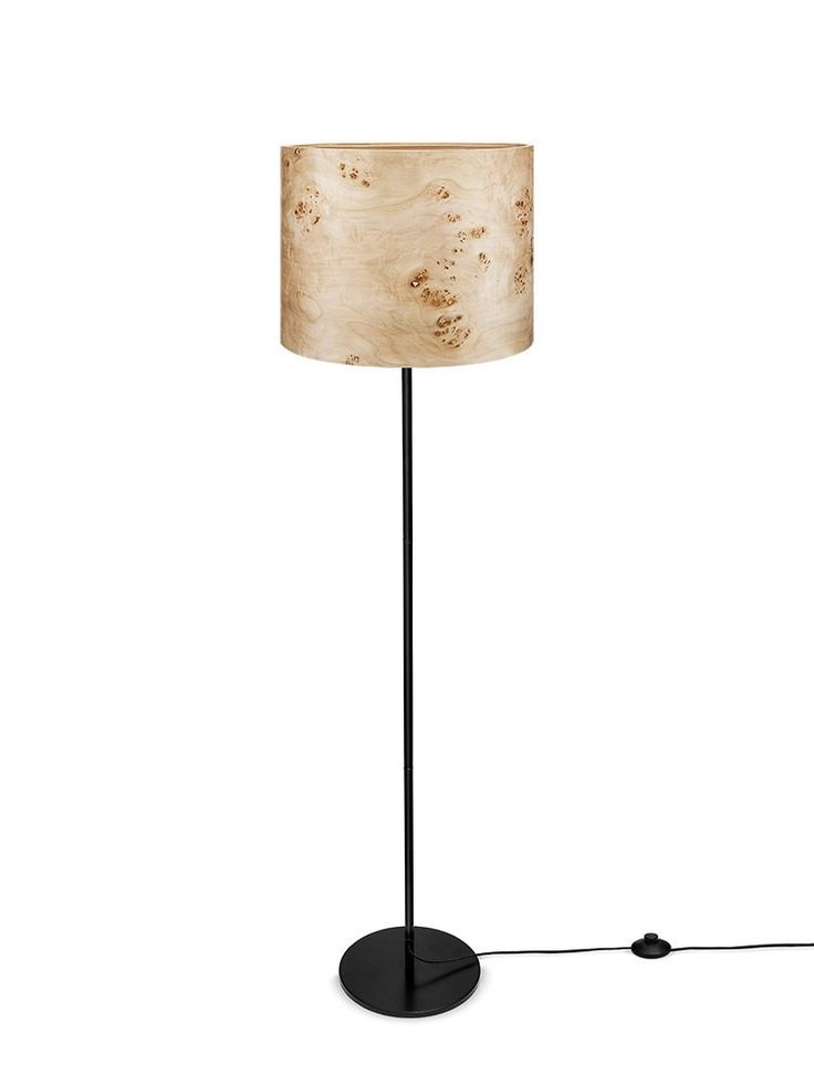 THEA Design Floor Lamp - Poplar Veneer Shade - Interior Design - Ambient Lighting - Natural Atr by Sponndesign on Etsy