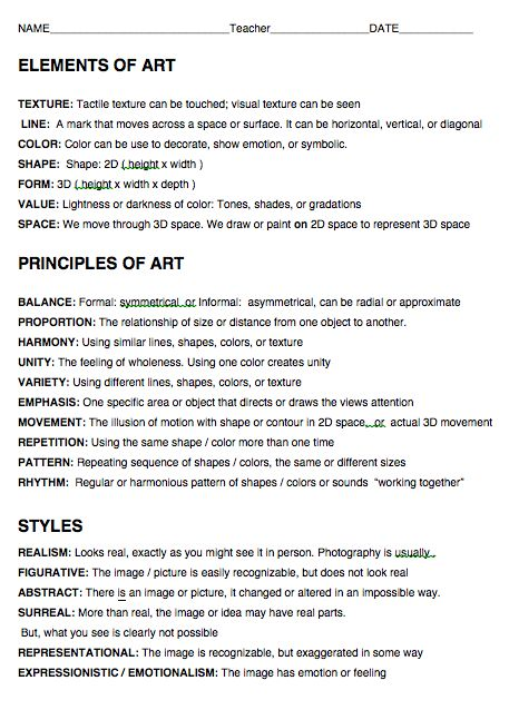 Different Elements And Principles Of Art : Best images about elements and principles of design on