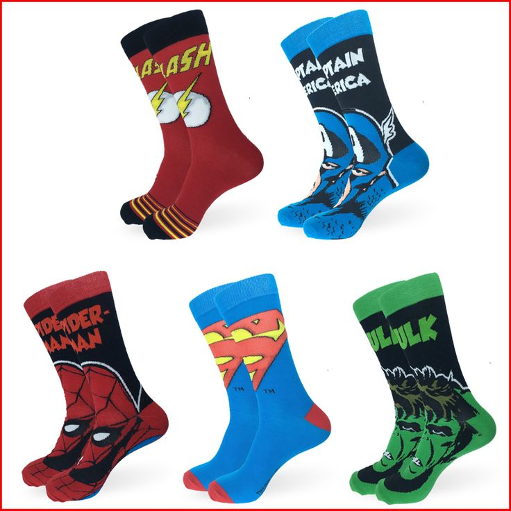 Super hero socks //Price: $8.00 & FREE Shipping //     #batman #deadpool #marvelc #dc