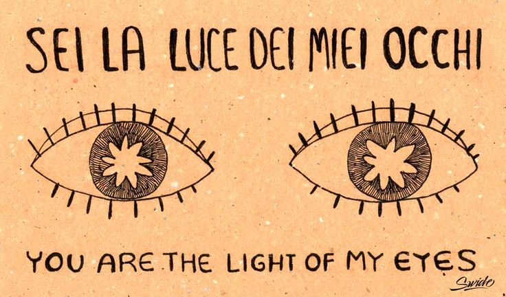 Learn romantic italian love phrases with beautiful illustrations by 'Italian for my girlfriend' Tumblr