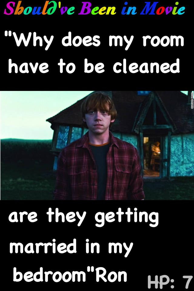 Harry Potter and the Deathly Hallows Should've Been in Movie Ron Funny Bill and Fleur Wedding