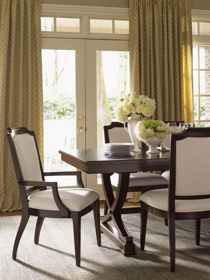 Kensington Place Candace Dining Arm Chair In Oxford Brown | Lexington  Furniture | Home Gallery Stores