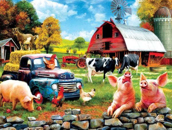 Farm Days 1000 pc Jigsaw Puzzle by SUNSOUT INC