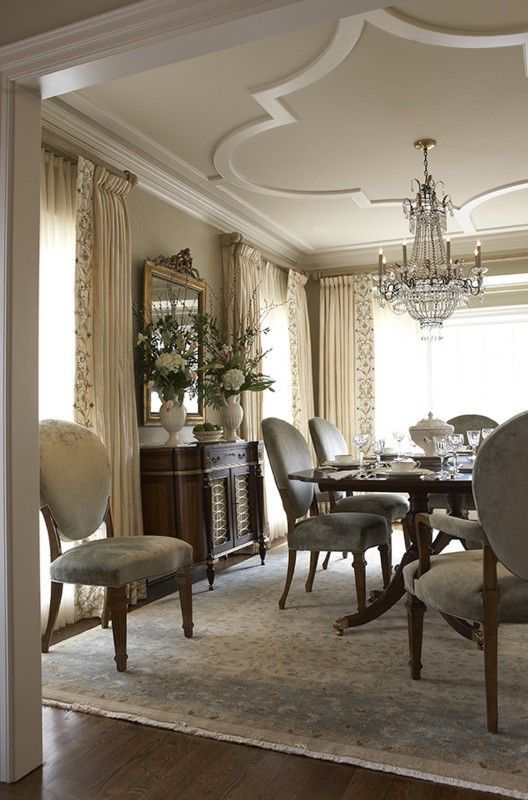 Best 25 gypsum ceiling ideas on pinterest ceiling for Traditional dining room designs
