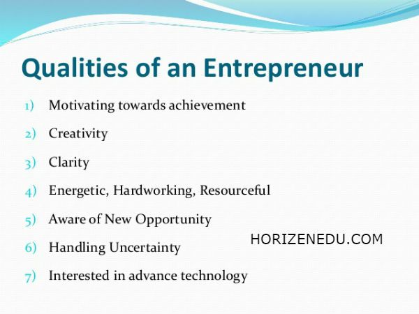 Entrepreneur Definition Characteristics Qualities 2018 Essay
