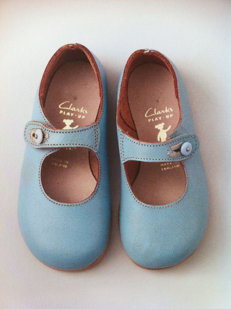 Vintage girls shoes from Clarks 'Play Ups' - they should reissue these!