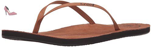 Reef Leather Uptown, Tongs femme, Marron - Marrón (Cocoa), 41 1/2 - Chaussures reef (*Partner-Link)