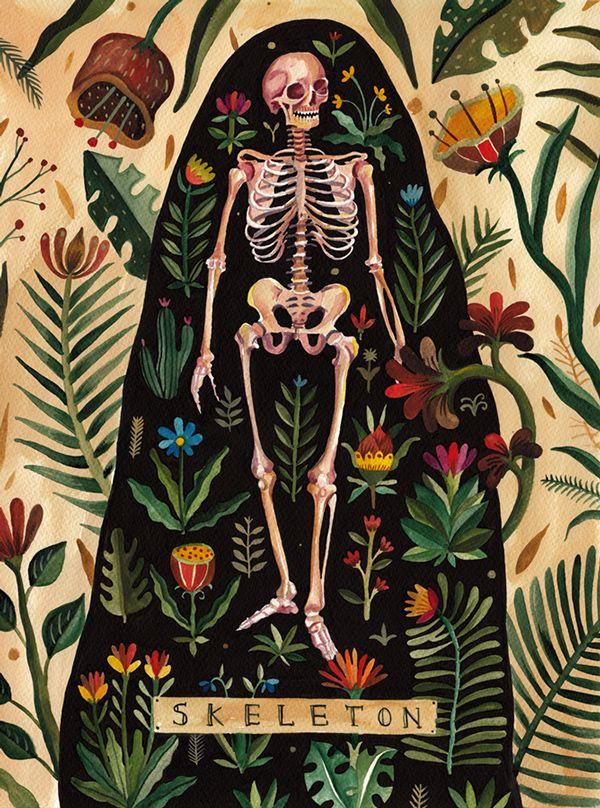 #Skeleton // #Anatomy #Art // Beautiful Us by Aitch