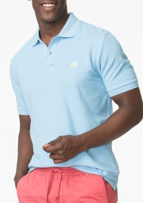 Chaps Sutton Blue Pique Polo Shirt