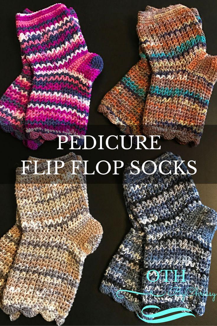 crochet pattern pedi socks