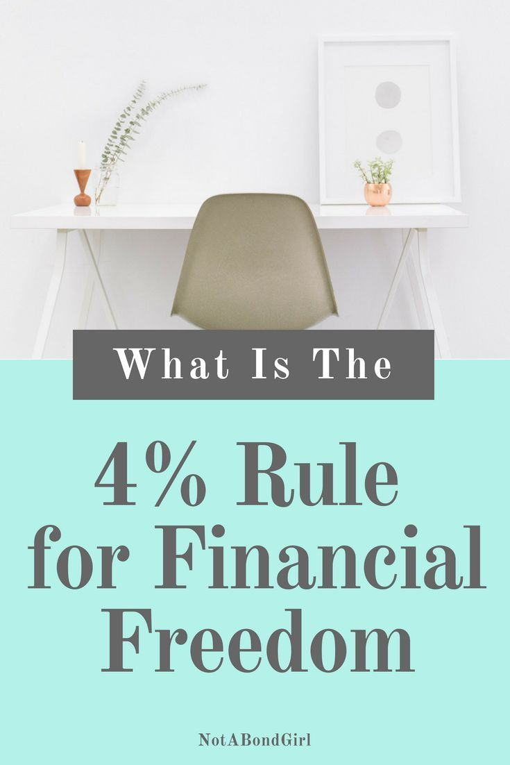 What Is The 4 Rule For Financial Freedom How To Use The Four Percent Rule Financial Independence Retire Early Retirement Financial Freedom Retirement Advice