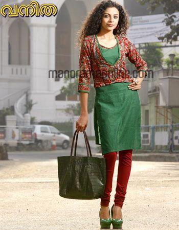 kurti coat #green #red kurta #jacket