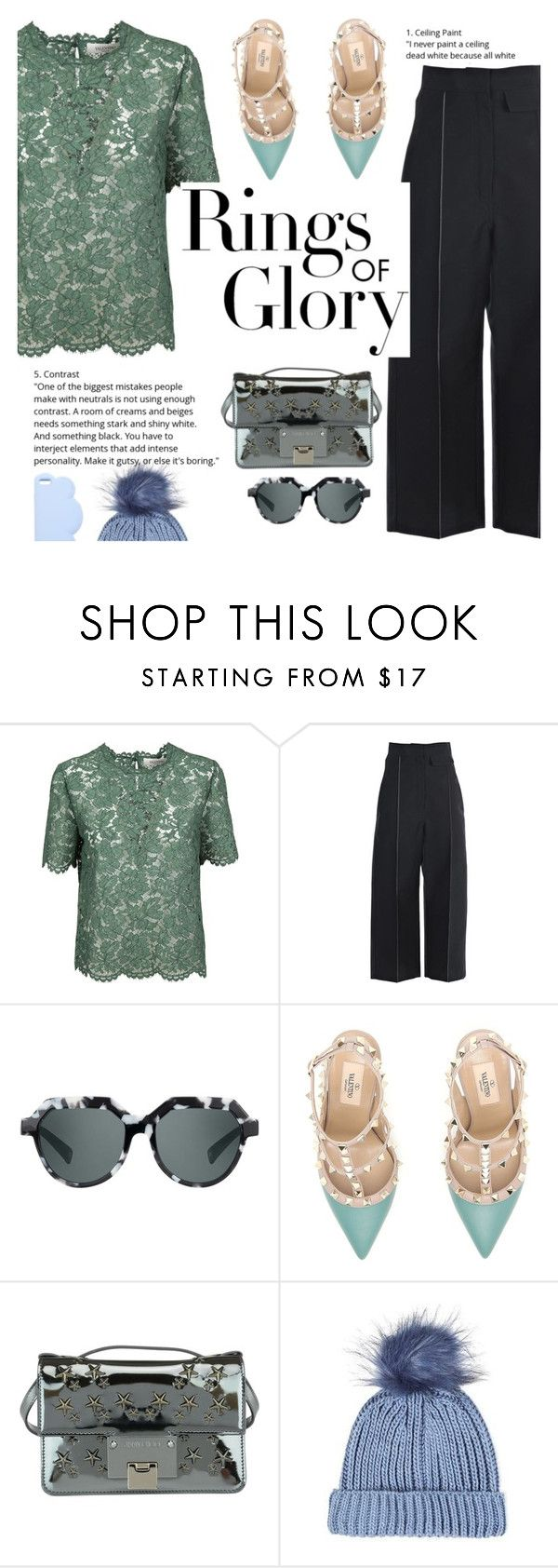 """""""rings of glory"""" by italist on Polyvore featuring Valentino, CÉLINE, Quattrocento, Jimmy Choo, Topshop, Tiffany & Co. and STELLA McCARTNEY"""