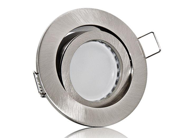 LED Einbaustrahler Set mit Marken GU10 LED Spot Lumixon 3,5 Watt Samsung Chips Alu-Druckguß Rund Klickverschluß