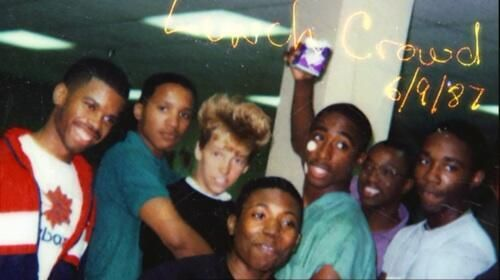 Tupac Shakur and friends, age 15.