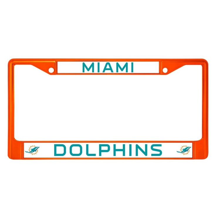 NFL Miami Dolphins License Plate Frame https://www.fanprint.com/licenses/miami-dolphins?ref=5750