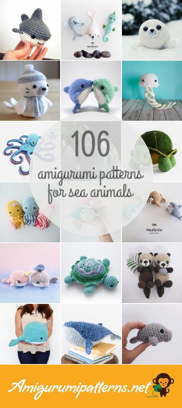 Free Sea Creature Knitting Patterns Patterns ⋆ Knitting Bee (14 free  knitting patterns) | 1345x600