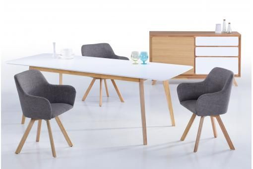Table Scandinave Extensible Blanche 90x180/226 KABLI