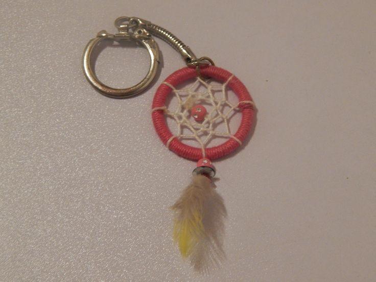 Porte Clés Mini Attrape Rêve Rose : Porte clés par creacendre