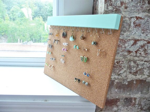 Earring Studs Holder  Stud Earring Holder  Cork by FreshlyFramed