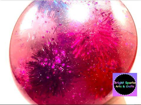 DIY * Pretty Pink Galaxy Stress Ball * Art Craft Fun