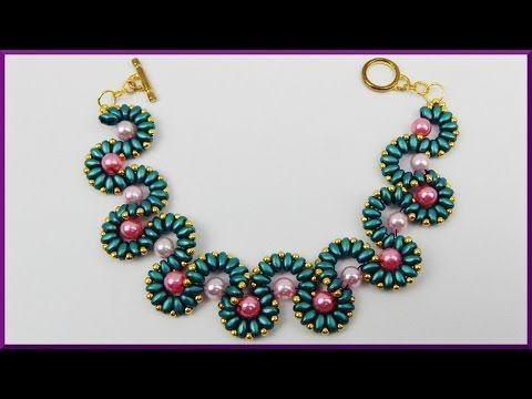 DIY | Perlenring aus Twin beads | Schmuck basteln | Beaded ring with bicones | Jewellery | Tutorial | DIY Ideas | DIY Ideen Hier kostenlos abonnieren: http:/...