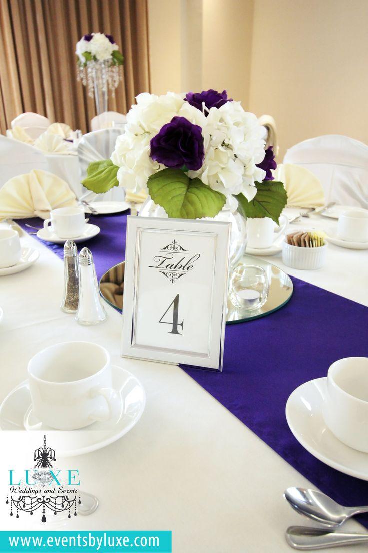 Ivory and purple wedding decor, hydrangea centerpieces, hydrangea with roses centerpiece, short wedding centerpiece, round bowl centerpiece, bubble bowl centerpiece, ivory and purple wedding reception