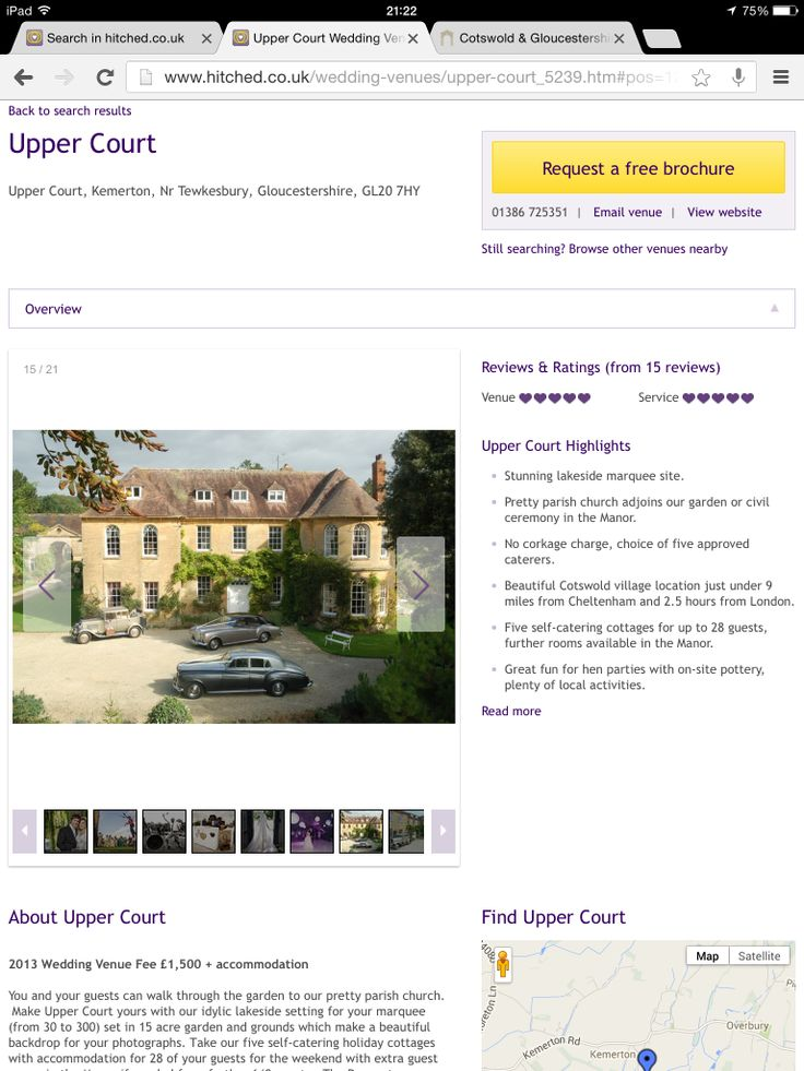 Upper court manor, 20 min from Church End, marquee for reception. Info requested 27/04, venue charge approx 2.5k for whole weekend hire. 5 self catering cottages (approx 20 guests + B&G) and 4 rooms in manor. Plus another 4-5 rooms in nearby crown inn.