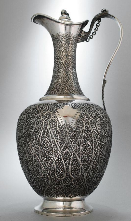 Kashmiri (Srinagar) Claret Jug - Sterling Silver 1890.