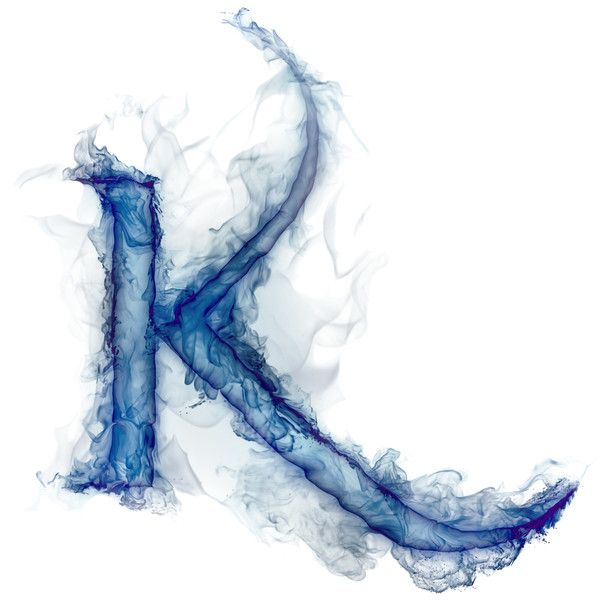 Smoke Letters K Liked On Polyvore Featuring Letters