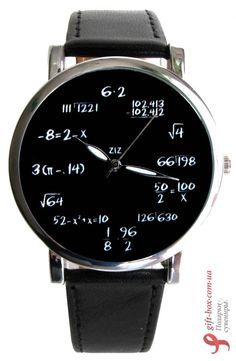 I have this in the wall clock version, on graph paper.  Наручные часы ZIZ «Математика»