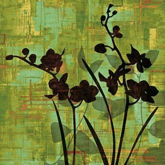 Silhouette on Green Framed Art Print by Erin Lange
