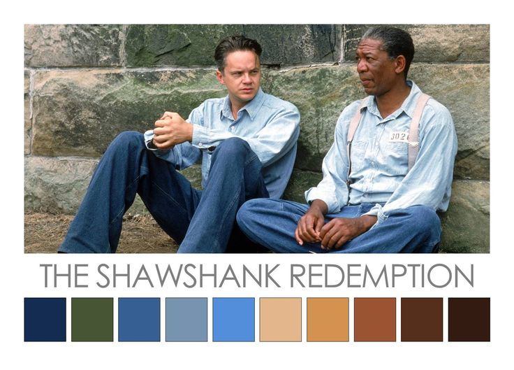 The Shawshank Redemption (1994). Cinema Palette - for detailed colour analysis go to http://zenaoconnor.com.au/cinema-palettes/